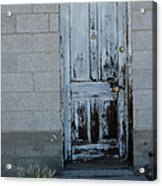 Weathered Door Virginia City Nevada Acrylic Print