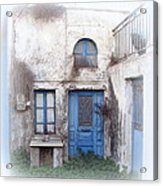 Weathered Greek Building Acrylic Print