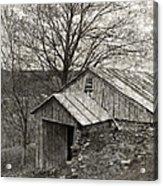 Weathered Hillside Barn Acrylic Print