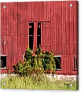 Weathered Red Barn Of New Jersey Acrylic Print