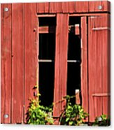 Weathered Red Barn Window Of New Jersey Acrylic Print