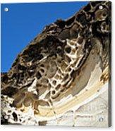 Weathered Sandstone Acrylic Print by Kaye Menner
