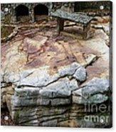 Weathered Stone Acrylic Print