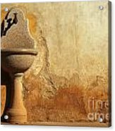 Weathered Water Faucet Acrylic Print
