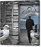 Weathering The Gulls Acrylic Print