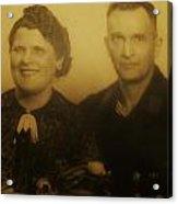 Parents Wedding 1940 Acrylic Print