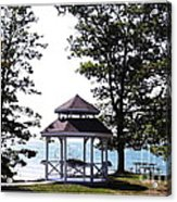 Wedding Gazebo By Lake Erie At Evangola State Park Acrylic Print