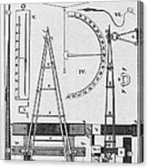 Weighbridge And Hygrometer, 18th Century Acrylic Print