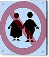 Weight Discrimination, Computer Artwork Acrylic Print by Christian Darkin