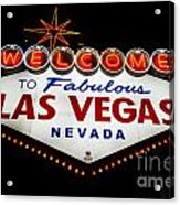 Welcome To Las Vegas Acrylic Print