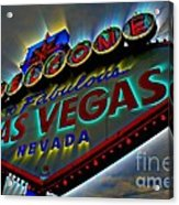 Welcome To Las Vegas Acrylic Print by Kevin Moore