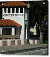 Welcome To New Port Richey Florida  Acrylic Print
