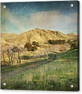 We'll Walk These Hills Together Acrylic Print