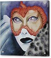 Well Worn Mask Acrylic Print