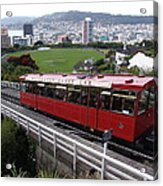 Tram Car Viewpoint - Wellington, New Zealand Acrylic Print