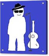 Welsh Snowman Musician Acrylic Print