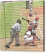 Werth Swings For Phillies Acrylic Print