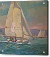 West Coast Sailing Acrylic Print