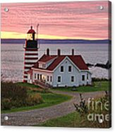 West Quoddy Head Lighthouse Acrylic Print