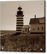 West Quoddy Lighthouse Acrylic Print by Skip Willits