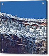 West Temple Detail 2 Acrylic Print