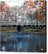 West Valley Green Road Bridge Along The Wissahickon Creek Acrylic Print by Bill Cannon