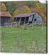 West Virginia Barn 3211 Acrylic Print