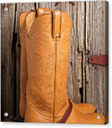 Western Boots And Spurs Acrylic Print