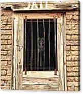 Western Jail House Door Acrylic Print