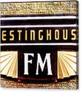 Westinghouse Fm Logo Acrylic Print