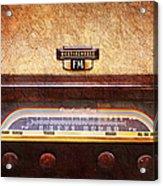 Westinghouse Fm Rainbow Tone Radio Acrylic Print