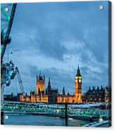 Westminster And The London Eye Acrylic Print