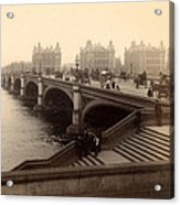 Westminster Bridge - London - C 1887 Acrylic Print