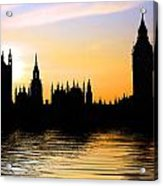 Westminster Silhouette Acrylic Print
