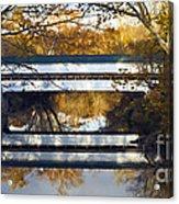 Westport Covered Bridge - D007831a Acrylic Print by Daniel Dempster