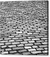 Wet Cobblestoned Huntly Street In The Union Street Area Of Aberdeen Scotland Uk Acrylic Print