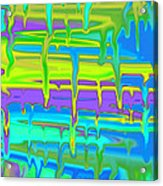 Wet Drippy Paint Acrylic Print