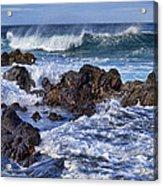Wet Lava Rocks Acrylic Print