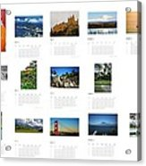 What A Wonderful World Calendar 2012 Acrylic Print by Juergen Weiss