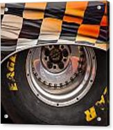 Wheel And Chequered Flag Acrylic Print