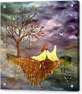 When An Angel Falls Acrylic Print by Nicole Champion