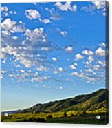 When Clouds Meet Mountains 2 Acrylic Print