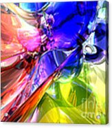 When Rainbows Collide Acrylic Print