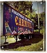 When The Carnival Comes To Town Acrylic Print