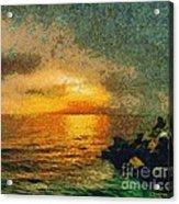 When The Sun Mets The Sea Acrylic Print