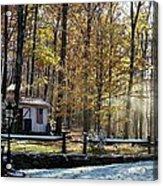Where Fall Meets Winter Acrylic Print by Jennifer Compton