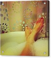 Where I Relax Acrylic Print by Katie Cupcakes