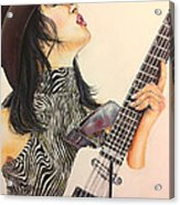 While My Guitar Gently Weeps Acrylic Print