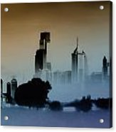While The City Sleeps Acrylic Print by Bill Cannon