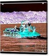 Whirlpool Jet Boat Niagara Falls Inverted Acrylic Print
